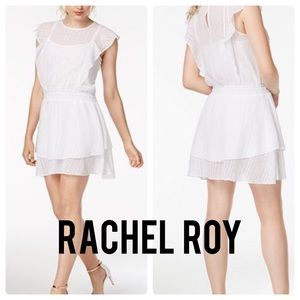 RACHEL ROY Gemma Eyelet Dress S